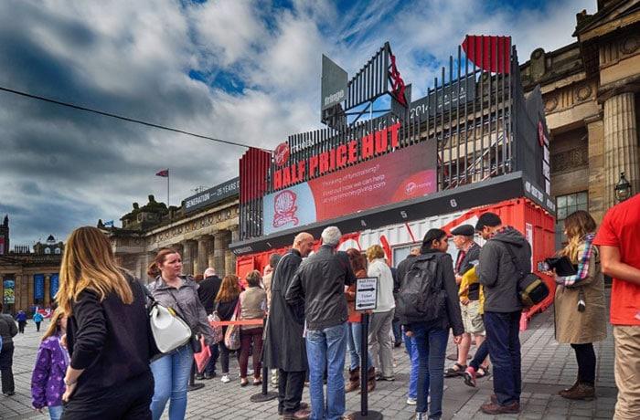 Edinburgh Fringe Festival / Collective Architecture – Half Price Ticket Hut